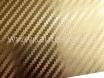 Золотая карбоновая пленка 3D хром, Carlux+ ширина 1.52м. № 1