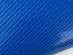 4D карбон синий, высокое качество, микроканалы, под лаком ширина 1,52м. № 1