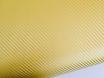 Золотая пленка под карбон 3D TR1  № 1
