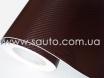 Коричневый карбон 3D, карбоновая коричневая пленка 1,27м. № 2