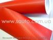 Красная карбоновая пленка высокого качества ширина 1,52м. № 4