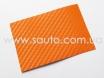 Виниловая пленка под карбон, оранжевого цвета самоклейка 1.52м. № 1