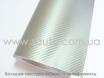 Карбоновая пленка серебристая для авто, ширина 1,52м. с микроканалами № 1