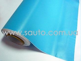 Голубой карбон 3d, пленка карбоновая для авто 1,52м.