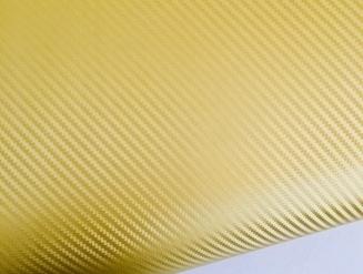 Золотая пленка под карбон 3D TR1