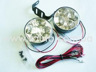 Круглые дневные ходовые огни ДХО-006, 4LED, мощность 7w