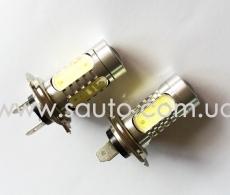 Лампа светодиодная H7, мощность 7,5W LED 5шт. + Линза