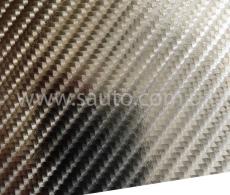 4D хром карбоновая пленка, 4D карбон серебро хром, Carlux+ ширина 1.52м.