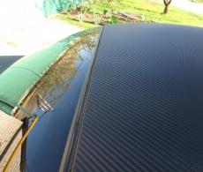 Оклейка крыши крбоном