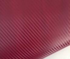 Бордовый карбон 3D TR1, бордовая карбоновая пленка ширина 1,27м. и 1,52м.