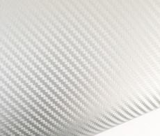 Серебристый карбон 3д (серебро)  для оклейки автомобиля, ширина 1.52м.