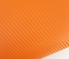 Оранжевая пленка карбон 3D, карбоновая пленка цвет оранжевый