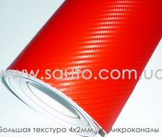 Красная карбоновая пленка высокого качества ширина 1,52м.
