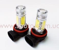 Лампа H8,H11 диодная, 11w для автомобиля в противотуманки