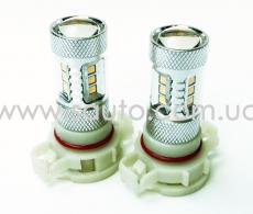 Лампа светодиодная PSX24 цоколь H16 Led SAMSUNG 15W 6 светодиодов 5W CREE) + Линза