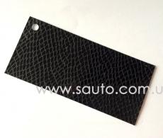 Глянцевая виниловая пленка с микроканалами, змеиная кожа, цвет черный S6301