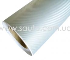 Серебряная автопленка карбон 3D TR1 technology racin (1) Винил Авто