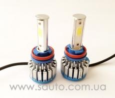 Комплект LED, сверх яркие светодиодные лампы H8, яркость 3600 люмен.